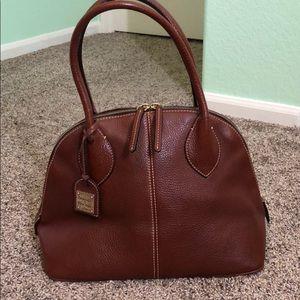 Dooney & Bourke Domed Satchel Leather Bag